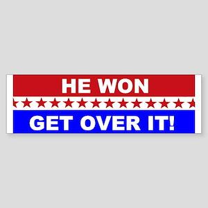 He Won Get Over It! Sticker (Bumper)