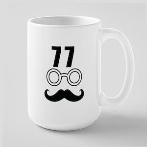 77 Birthday Designs 15 oz Ceramic Large Mug