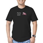 Farm Girl Tractor Men's Fitted T-Shirt (dark)