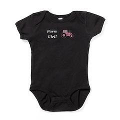 Farm Girl Tractor Baby Bodysuit