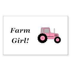Farm Girl Tractor Sticker (Rectangle 10 pk)