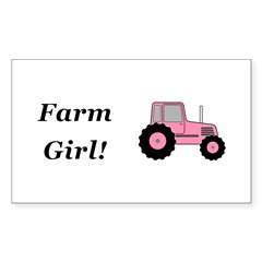 Farm Girl Tractor Sticker (Rectangle 10 pk)