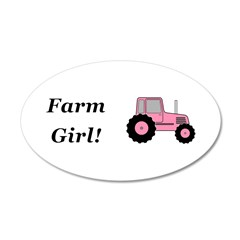 Farm Girl Tractor Wall Decal