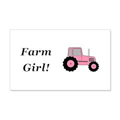 Farm Girl Tractor Wall Decal