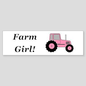 Farm Girl Tractor Sticker (Bumper)