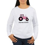 Farm Girl Tractor Women's Long Sleeve T-Shirt