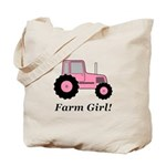 Farm Girl Tractor Tote Bag