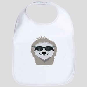 Sloth with sunglasses Baby Bib