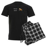 Farm Girl Tractor Men's Dark Pajamas