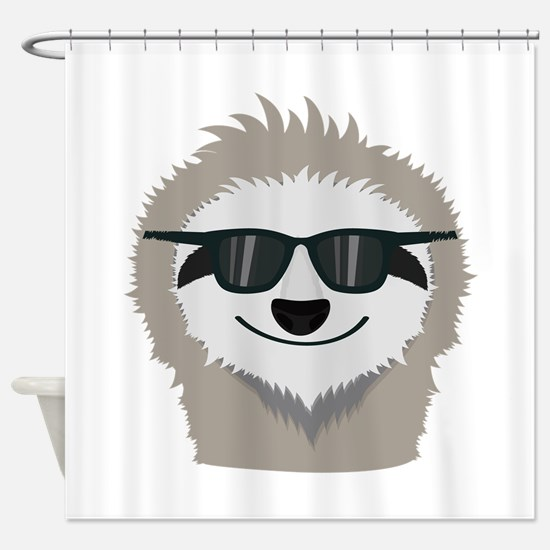 Sloth with sunglasses Shower Curtain