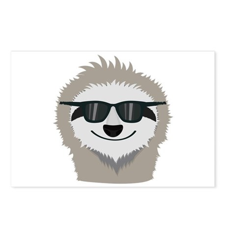 sloth with sunglasses postcards package of 8 by admin cp111876703