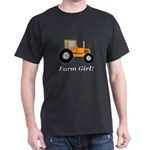 Farm Girl Tractor Dark T-Shirt