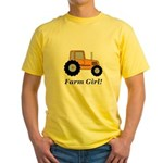 Farm Girl Tractor Yellow T-Shirt