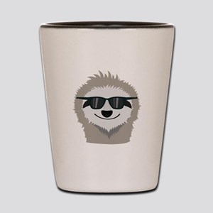 Sloth with sunglasses Shot Glass
