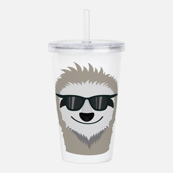 Sloth with sunglasses Acrylic Double-wall Tumbler