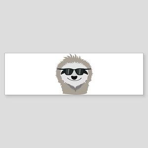 Sloth with sunglasses Bumper Sticker