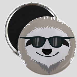 Sloth with sunglasses Magnets