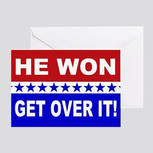 He Won Get Over It! Greeting Card
