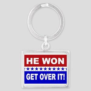 He Won Get Over It! Landscape Keychain