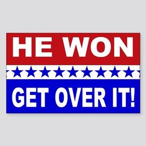 He Won Get Over It! Sticker (Rectangle)