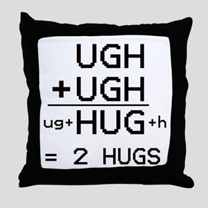 HUG not UGH pillow