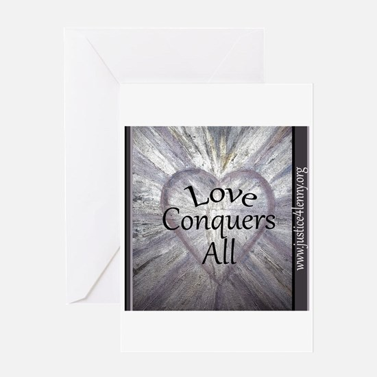Love Conquers All 2 Greeting Cards