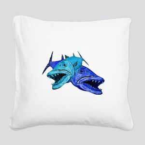 BARRACUDA Square Canvas Pillow