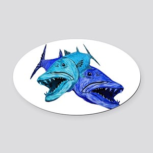 BARRACUDA Oval Car Magnet