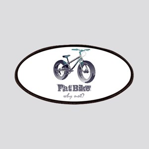 Fat Bike Why Not Motivational Quote Patch