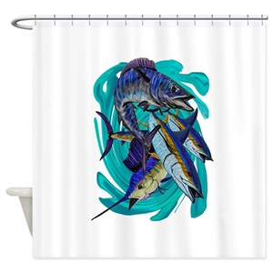 Sport Fishing Shower Curtains