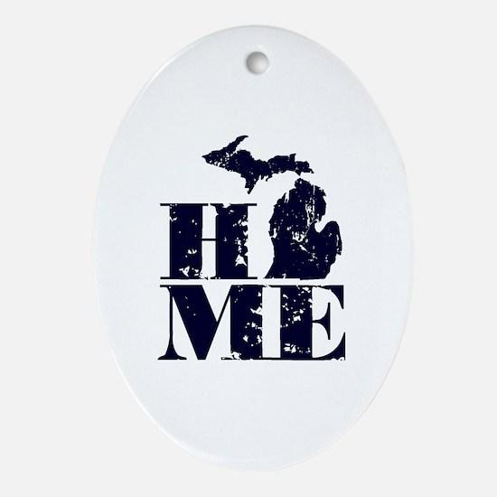 Cute Michigan Oval Ornament