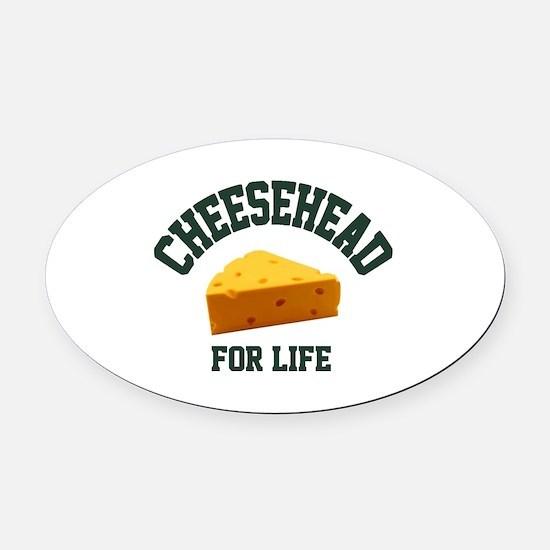 Cute Cheesehead Oval Car Magnet