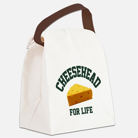 Cute Cheese head Canvas Lunch Bag