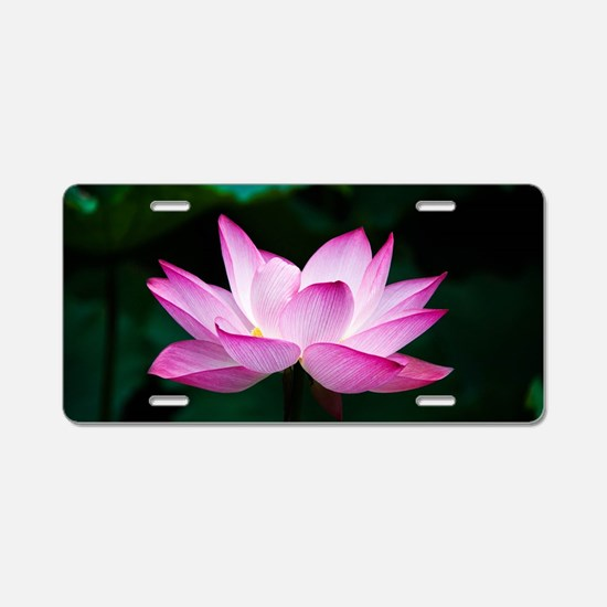 Lotus Blossom (Pink) Aluminum License Plate
