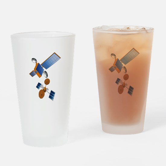 SATELLITES Drinking Glass
