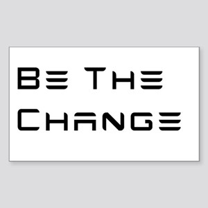 Be The Change (Tesla font style) Sticker