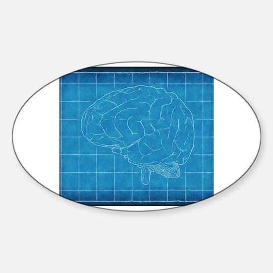 Cute Blueprint Sticker (Oval)