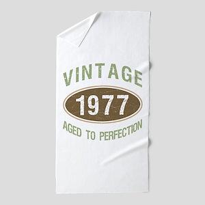 Vintage 1977 Birthday Beach Towel