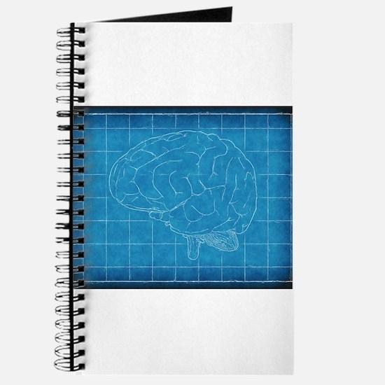 Blueprint notebooks blueprint journals spiral notebooks cafepress blueprint brain journal malvernweather Image collections