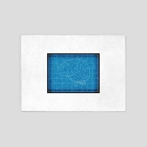 Blueprint Brain 5'x7'Area Rug