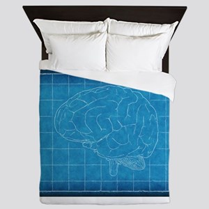 Blueprint Brain Queen Duvet