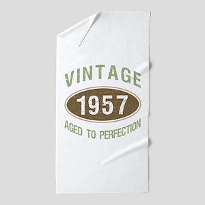 Vintage 1957 Birthday Beach Towel