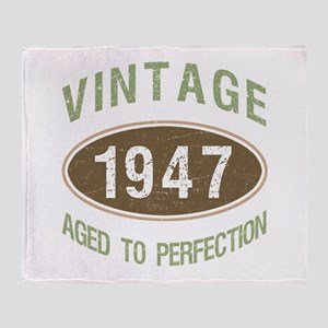 Vintage 1947 Birthday Throw Blanket