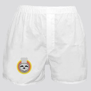 Sloth cook with hat Boxer Shorts