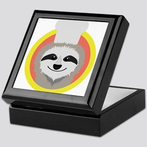 Sloth cook with hat Keepsake Box