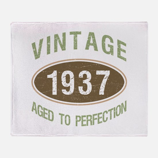 Vintage 1937 Birthday Throw Blanket