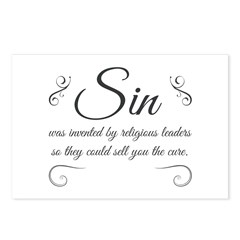 Sin was invented Postcards (Package of 8)
