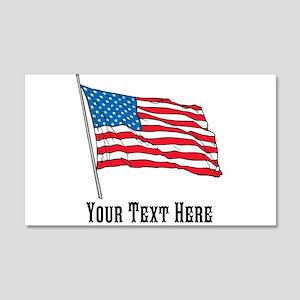 Custom US Flag Design Wall Decal