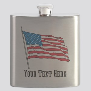 Custom US Flag Design Flask