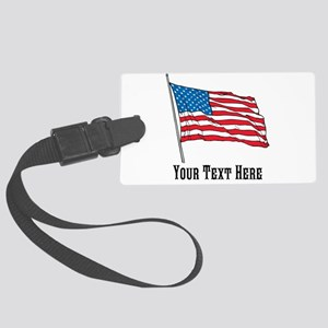 Custom US Flag Design Luggage Tag